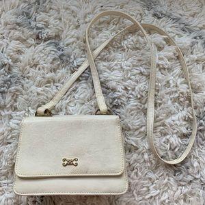 Vintage White Purse Handbag w/Makeup Compartment